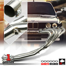 Stainless Steel Exhaust Header Manifold+X-Pipe for 84-91 BMW E30 3-Series 6Cyl