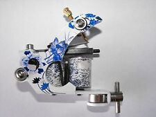 professional coil tattoo machine nice jap flower frame with 10 rap shorty coils