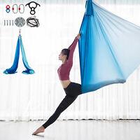 Aerial Silks Yoga Swing Kit Yoga Home Anti-gravity Fitness Gym 10m