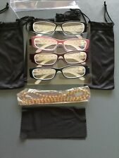 Specs Reader Glasses +1.00. 4 Pair W/bags & Glasses Lanyard.