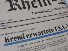 ALTE RHEIN ZEITUNG 2 JUNI 1960 ... KREML ERWARTETE USA SCHRITT...