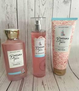 Bath & Body Works BOARDWALK TAFFY You Pick! Shower Gel Body Cream Fine Fragrance