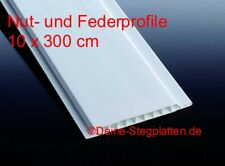 Nut- und Feder Paneele, Kunststoff, weiß, Profilpaneele, 10 cm x 300 cm