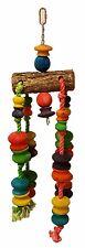 Bird Toy Blocks Wood Rope Parrot Bird Medium