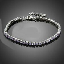 "3.25Ct Diamond Tennis Bracelet 7"" One Row Round Diamonds 14K White Gold Enhanced"