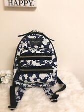 Marc Jacobs Large Biker Blue Moon Floral Print Backpack Blue White