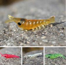 Soft Fishing Lure Plastic Mini Rubber Shrimp Fishing Baits Lure 100pc Mix Colors