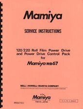 Mamiya 120 220 Roll Film Power Drive & Control Pack for RB67 Repair Manual