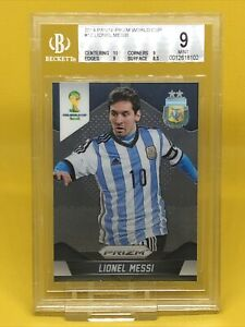 Lionel Messi #12 Panini Prizm World Cup 2014 Argentina Card BGS Mint 9 Graded