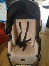 Britax sand Baby travel system pushchair with carry cot and car seat in gr8 cond