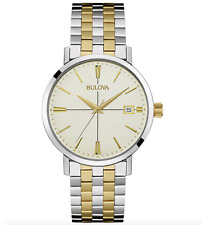 Bulova 98B255 Two Tone Stainless Steel 39mm Dress Classic Quartz Men's Watch