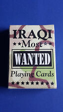 """Hoyle IRAQ WAR """"Most Wanted"""" Iraqi Terrorists Playing Cards *SEALED In Package*"""