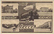 SALUTI A GRANDE VELOCITA' DA LECCE - VEDUTINE E TRENO 1940