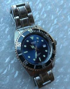 CASIO MTD-1010 Blue Submariner Model Quartz 100m Diver Men's Watch