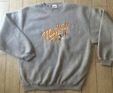 Vintage Mickey Mouse Spellout Crewneck Sweatshirt Polyester Fleece Size M/L