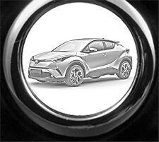 Toyota C-HR Schlüsselanhänger C-HR als Fotogravur inkl. Textgravur