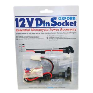 OXFORD 12V SAE/Din Power Socket & 10A Fused Loom Waterproof for Motorcycle