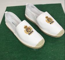 Polo Ralph Lauren Barron Espadrilles Shoes Slipon BEAR 100% cotton Men's sz 9.5