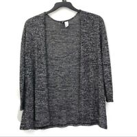 H&M Divided Heather Basic Open Front Cardigan Layer Sweater Womens Size Small