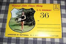 Route 36 Vintage Postcard Folder Souvenir Folio Book,Kansas,Indianapolis,Denver