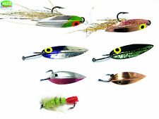 Salmon/ Sea Trout Fly Fishing Swivel-less Fly Lures (set of 6)