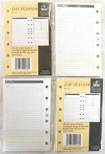 4 PACKS OF POCKET SIZE FILOFAX ORGANISER DAY PLANNER WHITE PAPER 100 SHEETS ha.