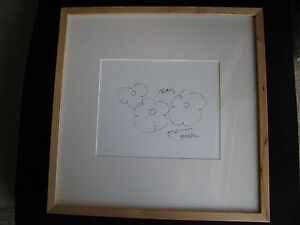 JEFF KOONS - KOONS SIGNED - KOONS DRAWING