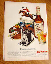 1949 Hunter Whiskey Ad  Canvas or Camera ?