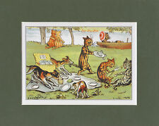 MOUNTED LOUIS WAIN CAT PRINT  -  SPORTS  &  LEISURE  -  OUR  PIC - NIC