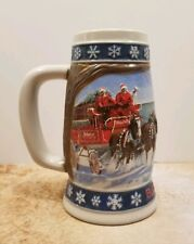 Budweiser 1995 Lighting the Way Home Holiday Collector's Stein Great Condition