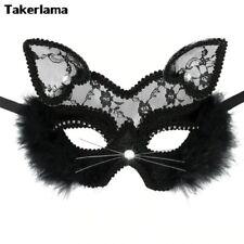 Takerlama luxe vénitien mascarade masque œil chat femme dentelle noir Halloween