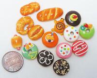 15 Mix Bakery Bread doughnut Donut Handmade Dollhouse Miniature Food,Barbie food