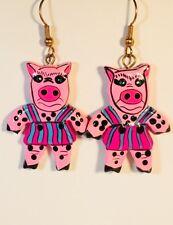 Fun Pig Dangle Earrings Stefano Artisan Handmade Bali Factory Prices new