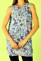 MOTTO sz 18 (US 14) Check Paisley Jersey Tunic Dress stretch relaxed drape NWT!