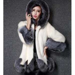 Thicken Faux Fox Fur Women's Vintage Winter Warm Long Sleeve Luxury Jacket Coat