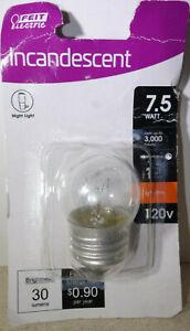 Feit Electric 7.5 Watt S11 Clear Incandescent E26 Night Light Bulb Soft White