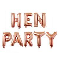 16 Inch Rose Gold HEN PARTY Foil Balloon Banner, Hen Party, Bachelorette Party
