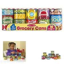 Lets Play House Toy Grocery Cans Kitchen Food Kids Pretend Toys New