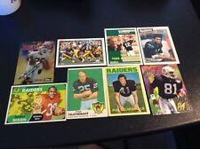 Lot (8) Vintage Oakland Raiders, RCs, Stars Biletnikoff, Allen, Bell, Villapiano