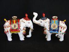 Pair of Precious White Elephants