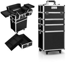7 in 1 Portable Beauty Makeup Organiser Cosmetic 4 Layers Trolley Case Black