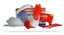 POLISPORT SET PLASTIQUE COMPLET CROSS MX BLANC ROUGE HONDA CRF 250 R 11-13