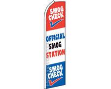 Smog Check Official Smog Station Rwb Swooper Super Feather Advertising Flag