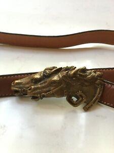 Vintage GUCCI Double Horse Head Belt - authentic