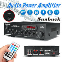 2000W 2Ch bluetooth Power Amplifier AMP Hi-Fi Home Stereo FM Radio SD USB AU