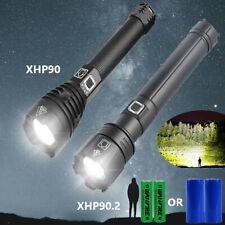 Ultra brilhante 200000LM XHP90.2 Lanterna De Led Recarregável 3 modo Zoom Torch 26650