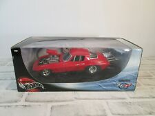 100% Hot Wheels Red Chevy Corvette Pro Street 1:18 Scale Die-Cast Metal #29226
