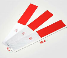 16pcs Cars Trucks Forklifts Red & White Warning Reflective Sticker Strips zyx