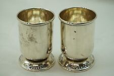 Sterling Silver Toothpick Holders Lunt Canterbury Bell Pattern Set Of 2 2.8Oz