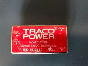 Traco Power TEN 12-2412 DC/DC converter Vin 9-36V dc, Vout 12V dc 1000mA